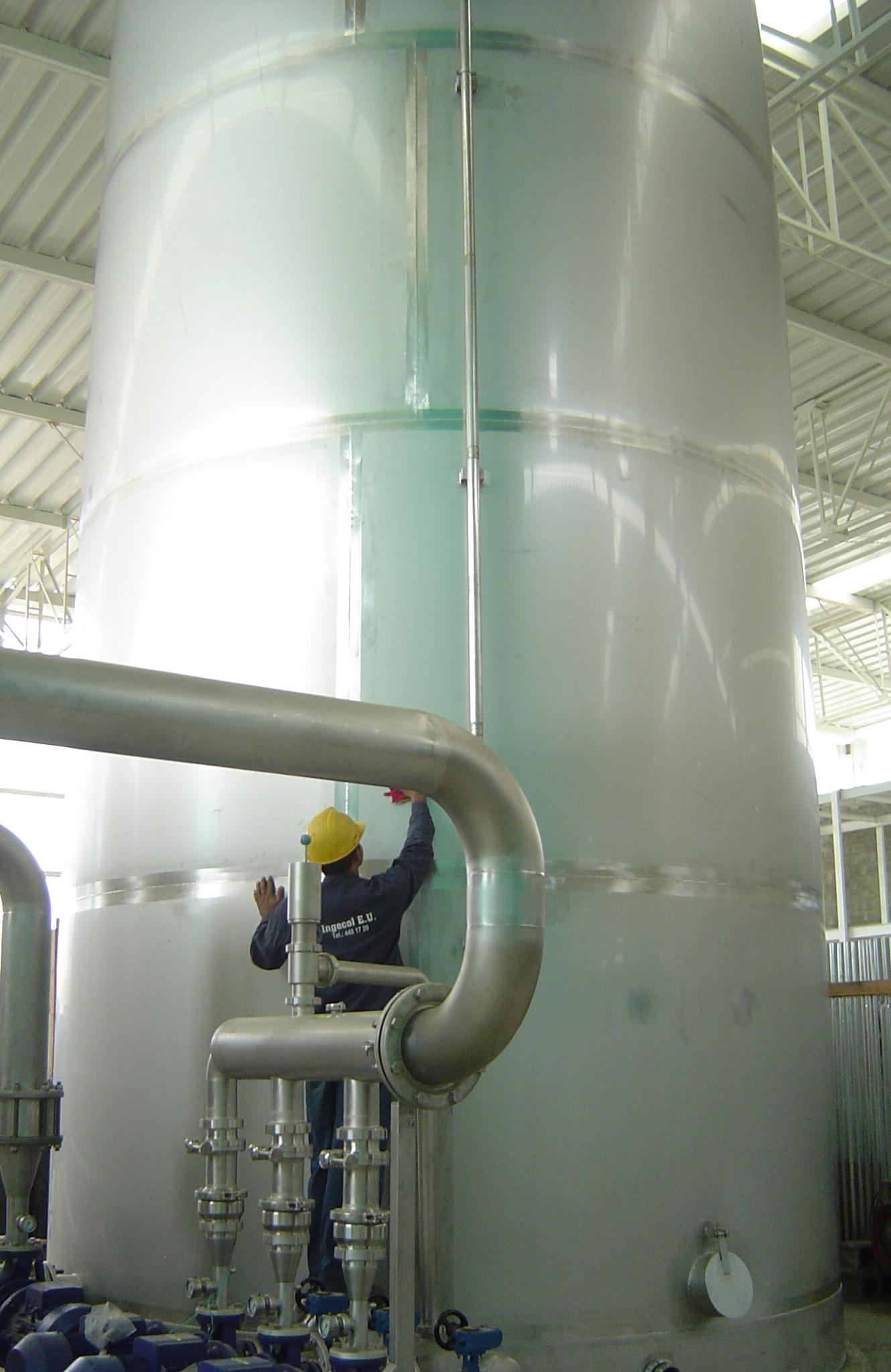 Tanque acero inoxidable tratamiento agua potable