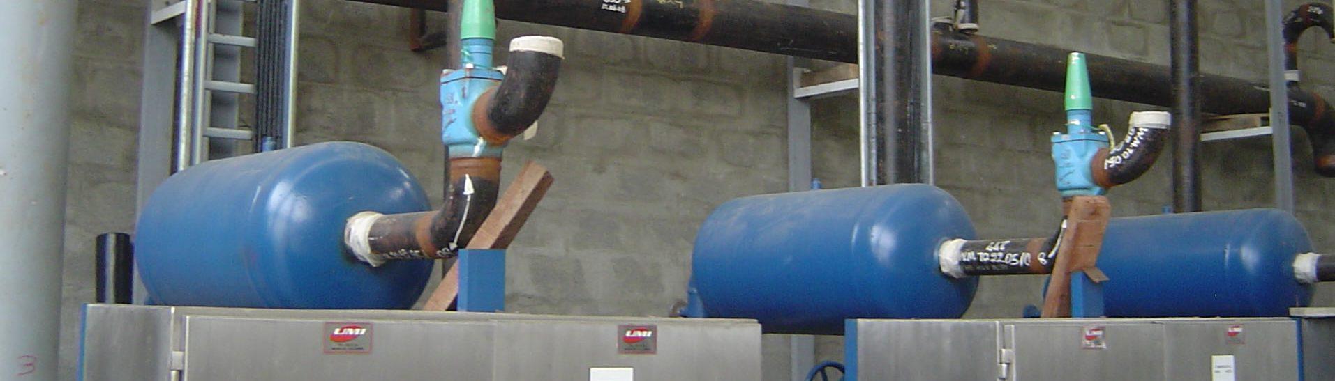 Montaje tubería NH3 en acero al carbón